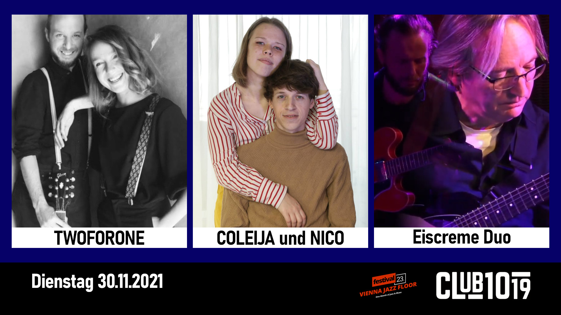 TwoForOne + Coleija und Nico + Eiscreme-Duo
